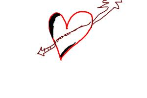 How to Draw an arrow heart