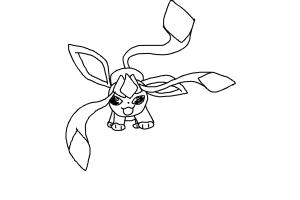 How to draw an easy baby glaceon