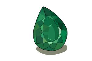 How to Draw an Emerald