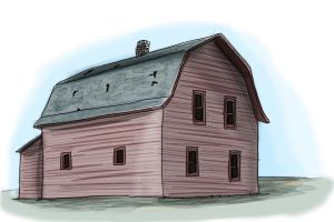 How To Draw An Old Farm House