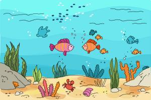 How to draw an Underwater sceneHow to draw an Underwater scene