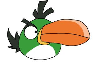 How to draw Angry Bird Hal, Green Bird, Boomerang Bird