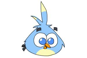 How to Draw Angry Bird Luca from Angry Birds Stella