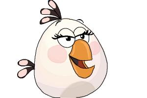 How to Draw Angry Bird Matilda, White Bird