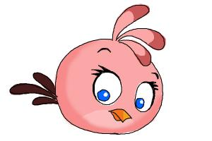 How to Draw Angry Bird Stella, Pink Bird