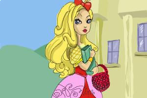 How to draw Apple White the daughter of Snow White from Ever After High