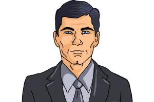 How to Draw Archer, Sterling Malory Archer from Archer