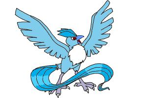 How to Draw Articuno from Pokemon