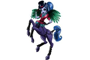 How to draw Avea Trotter from Monster High Freaky Fusion