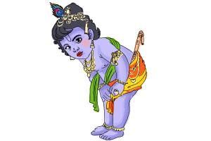 How to Draw Baby Krishna Iskcon