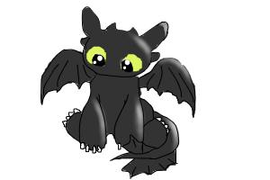 how to draw baby toothless