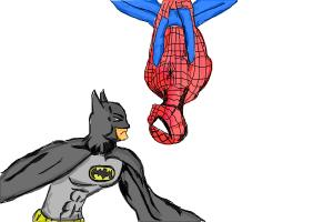 how to draw batman vs spiderman