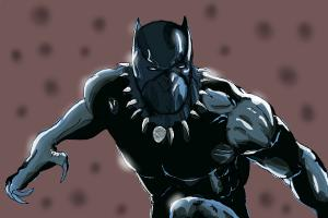 How to draw Black Panther from Marvel