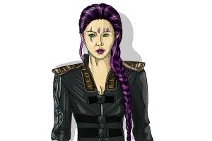 How to draw Blink, Fan Bingbing from X-Men: Days of Future Past