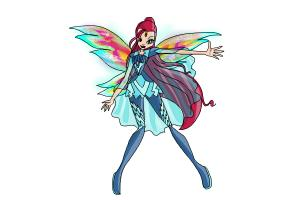 How to Draw Bloom, Fairy Of The Dragon Flame from Winx