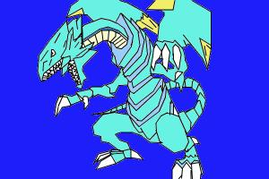 How to draw blue eyes white dragon from yugioh