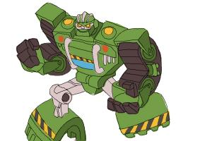 How to Draw Boulder from Transformers Rescue Bots