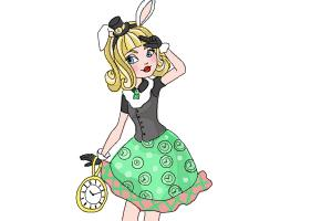 How to Draw Bunny Blanc The Daughter Of The White Rabbit from Ever After High