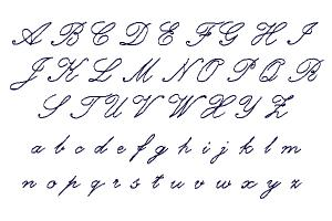 How to draw calligraphic letters