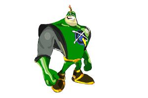 How to Draw Captain Qwark from Ratchet and Clank