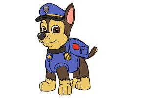 How to Draw Chase from Paw Patrol