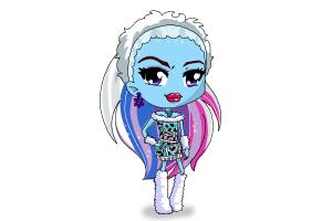 How To Draw Chibi Abbey Bominable From Monster High Drawingnow