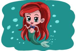 How to Draw Chibi Ariel