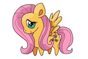 How to draw Chibi Fluttershy from My Little Pony Friendship is Magic
