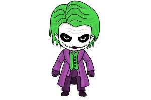 How to Draw Chibi Joker from Batman