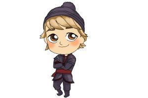 How to draw Chibi Kristoff from Frozen