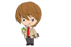 How to Draw Chibi Light Yagami