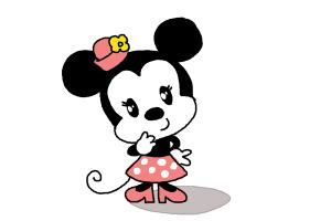 How to Draw Chibi Minnie Mouse