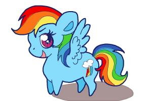 How to Draw Chibi Rainbow Dash from My Little Pony Friendship Is Magic