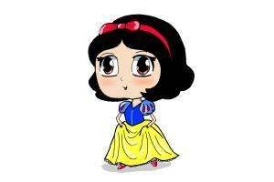 How to Draw Chibi Snow White