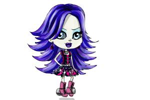 How to Draw Chibi Spectra Vondergeist from Monster High