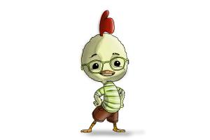 How to draw Chicken Little