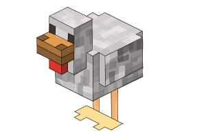 How to draw Chickens from Minecraft