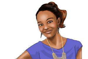 How to draw China Anne McClain