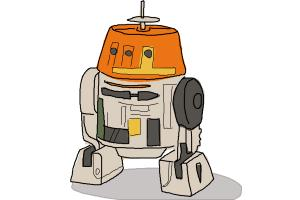 How to Draw Chopper, Grumpy Astromech Droid from Star Wars Rebels