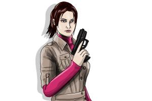 How to draw Claire Redfield from Resident Evil
