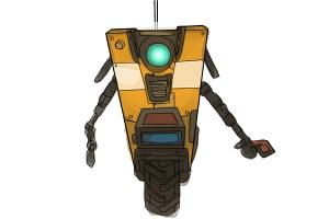 How to draw Claptrap from Borderlands the Pre-Sequel