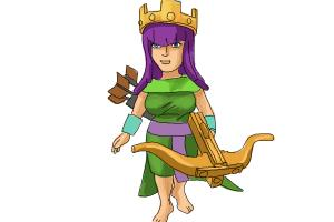 How to draw Clash of Clans Archer Queen