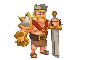 How to draw Clash of Clans Barbarian King