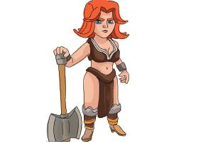 How to Draw Clash Of Clans Valkyrie