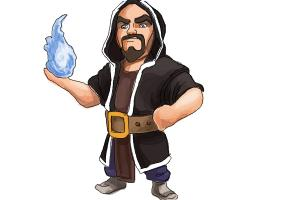 How to Draw Clash Of Clans Wizard