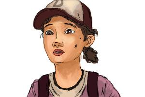 How to Draw Clementine from The Walking Dead
