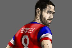 How to draw Clint Dempsey