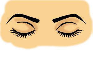 How To Draw Closed Eyes Drawingnow