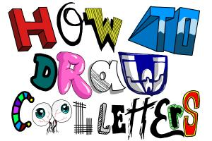 How to draw cool letters
