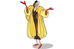 How to Draw Cruella De Vil, Disney Villain